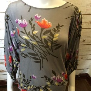 Anthropologie Deletta Top Floral soft Top sz M